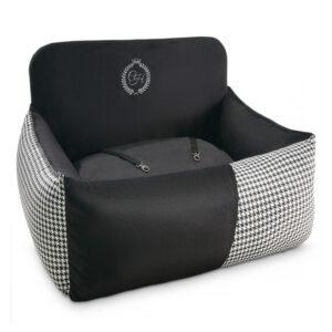 Pojedyncze siedzisko Porto czarne - Porto single black car seat
